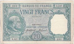 20 French Francs banknote (Bayard)