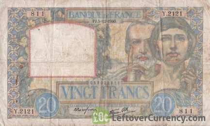 20 French Francs banknote (Science et Travail)