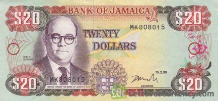 20 Jamaican Dollars banknote (Noel N. Nethersole)