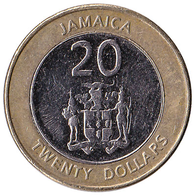 20 Jamaican Dollars coin