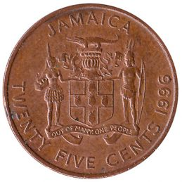 25 cents coin Jamaica