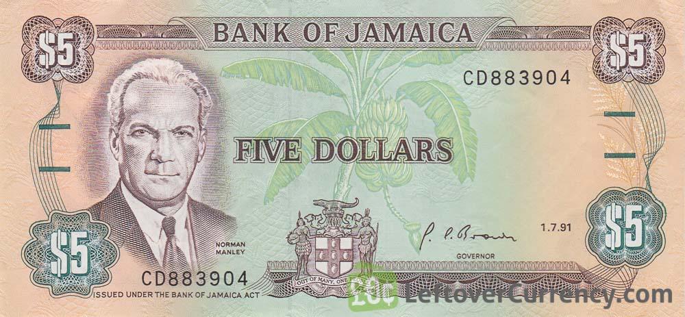 5 Jamaican Dollars