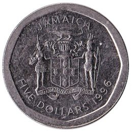 5 Jamaican Dollars coin