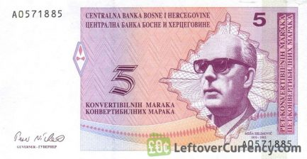 5 Konvertible Mark banknote