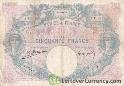 50 French Francs banknote (Bleu et Rose)
