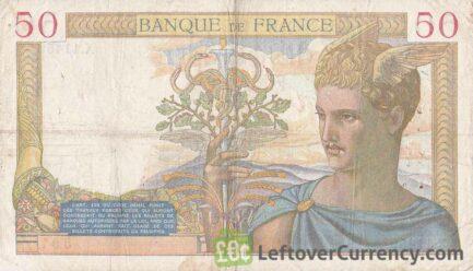 50 French Francs banknote (Cérès)