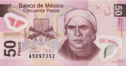 50 Mexican Pesos banknote (Series F)
