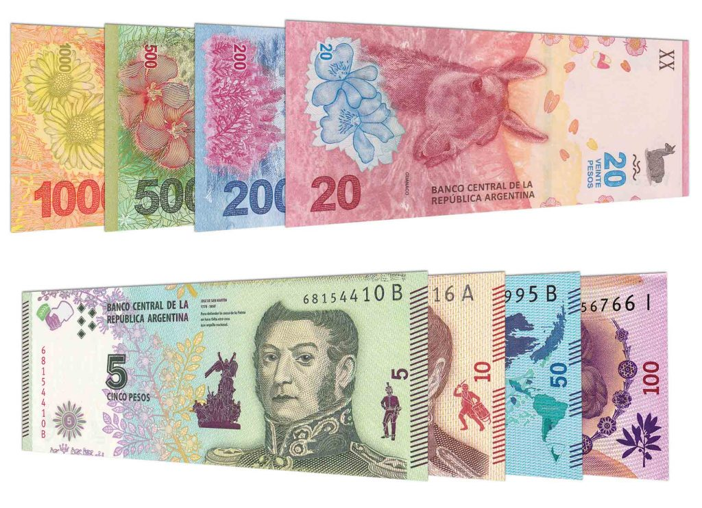 current Argentine Peso banknotes accepted for exchange