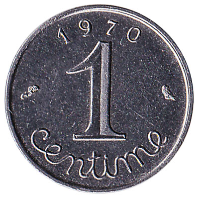 France 1 centime coin