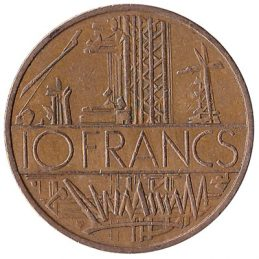 France 10 Franc coin (nickel-brass)