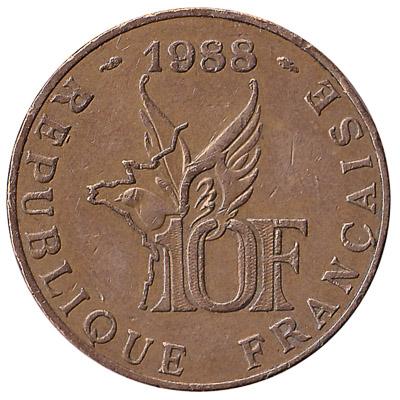 France 10 Franc coin (Roland Garros)