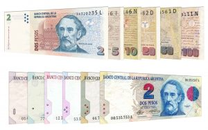 withdrawn Argentine Peso banknotes accepted for exchange