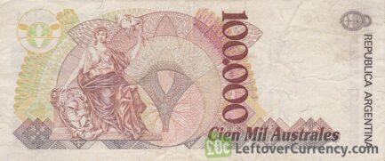 100000 Argentine Australes banknote