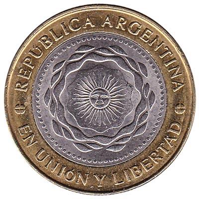 2 Argentine Pesos coin