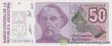 50 Argentine Australes banknote