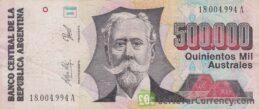 500000 Argentine Australes banknote