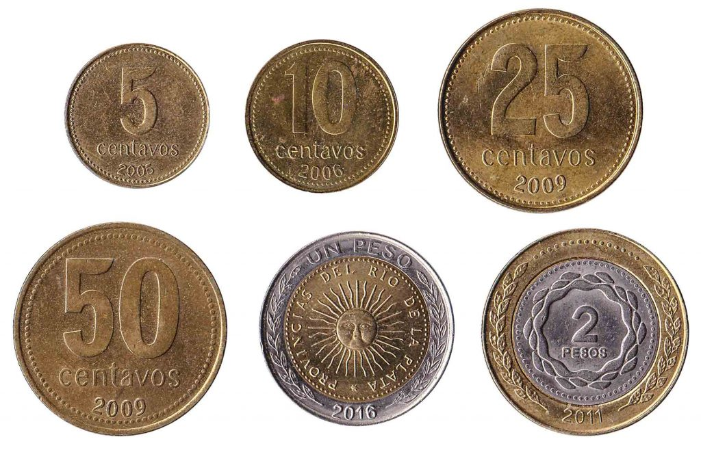 Argentine Peso coins