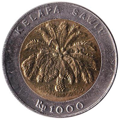 Indonesia 1000 Rupiah coin (bimetallic)
