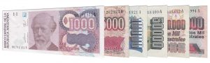 withdrawn obsolete Argentine Australes banknotes