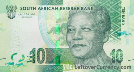 10 South African Rand banknote (Madiba 100th birthday)