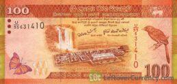 100 Sri Lankan Rupees banknote (Sri Lanka Dancers series)