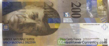 200 Swiss Francs banknote (Charles-Ferdinand Ramuz 8th Series)