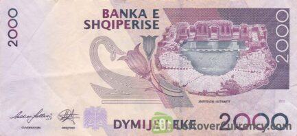2000 Albanian Lek banknote (Gentius)