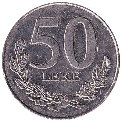 50 Albanian Leke coin