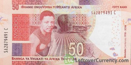 50 South African Rand banknote (Madiba 100th birthday)