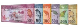 current Sri Lankan Rupees banknotes accepted for exchange