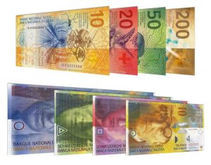 current Swiss Franc banknotes accepted for exchange