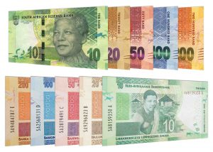 current South African Rand banknotes accepted for exchange