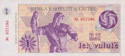 Albania 1 Lek Valutë banknote