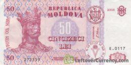 50 Moldovan Lei banknote