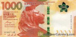 1000 Hong Kong Dollars banknote (HSBC 2018 issue)
