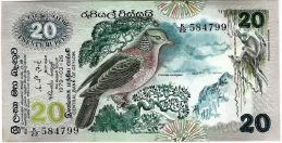 20 rupees Central Bank of Ceylon banknote (Fauna and Flora series)