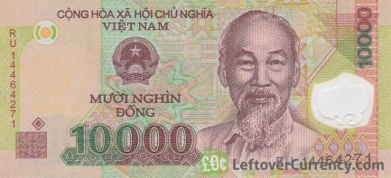 10000 Vietnamese Dong banknote front side