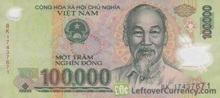 100,000 Vietnamese Dong banknote