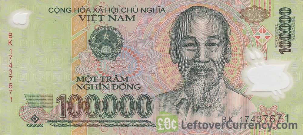 100 000 Vietnamese Dong Banknote