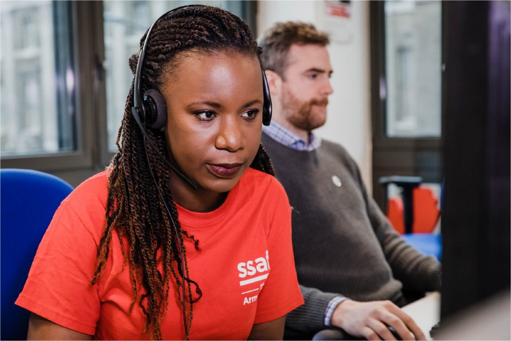 SSAFA call center volunteer