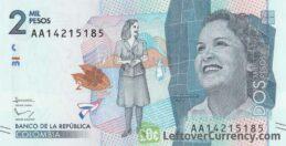 2000 Colombian Pesos banknote (Débora Arango Pérez)