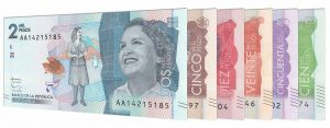 current Colombian Pesos banknotes