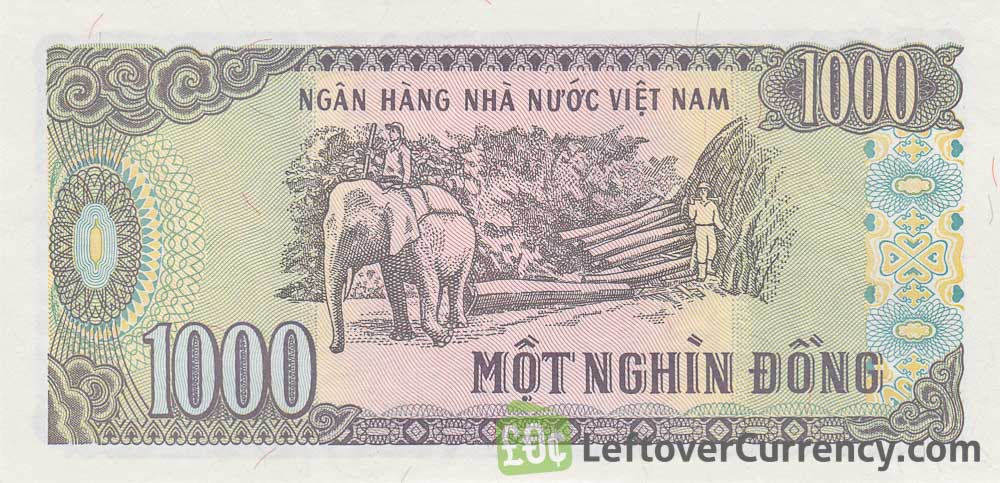 1000 Vietnamese Dong Banknote Type 1988 Exchange Yours For Cash