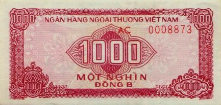 1000 Vietnamese Dong foreign exchange certificate