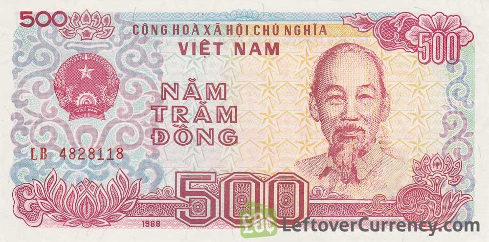 500 Vietnamese Dong Banknote Type 1988