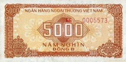5000 Vietnamese Dong foreign exchange certificate