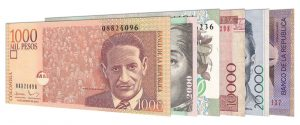 withdrawn Colombian Pesos banknotes