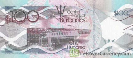 100 Barbados dollars banknote (Grantley Adams International Airport)
