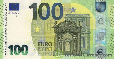 100 Euros banknote second series obverse