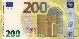 200 Euros banknote Second series obverse